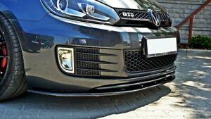 FRONT SPLITTER V.2 FOR VW GOLF MK6 GTI (2008-2012)