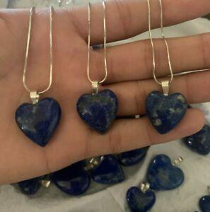 Lapis Lazuli Heart shape pendants