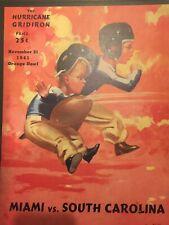 """Child's Room ORANGE BOWL MIAMI VS  South Carolina Poster11x14"""" Repro Vintage"""