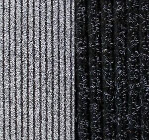 RIBBED ENTRANCE MATTING, 8MM THICK  MATTING, GREY & ANTHRACITE, HEAVY DUTY