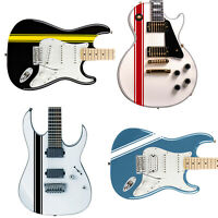 Customized Racing Stripes Decal Sticker for Guitars & Basses 24 Colour Options
