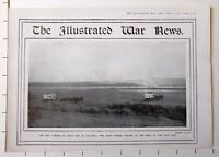 1915 WWI WW1 PRINT ~ NEW LANDING SUVLA BAY GALLIPOLI RED CROSS WAGONS SALT LAKE