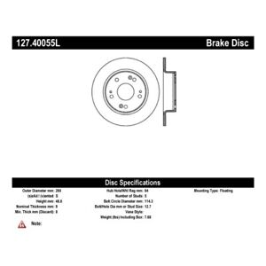 StopTech 127.40055L Sport Drilled & Slotted Brake Rotor For 04-08 Acura TSX NEW