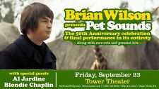 "Brian Wilson ""Pet Sounds"" 2016 Philadelphia Concert Tour Poster - Beach Boys"