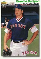 545 ROGER CLEMENS BOSTON RED SOX BASEBALL CARD UPPER DECK 1992