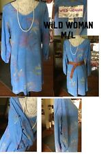 NWOT Wild thing WILD WOMAN dress with open button sleeves NICE.. M/L