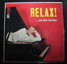 Dave Carlson  - Relax LP Mint- R 203 Promo HIFI Records 1959 USA Vinyl Record