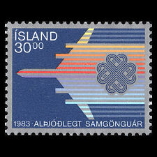 Iceland 1983 - World Communications Year Science Technology - Sc 580 MNH