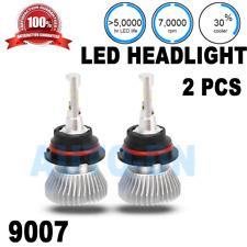 2pcs LED Headlight Bulb Dual Beam 6000K Super White D 9007 HiLo/9007 Bi-Xenon
