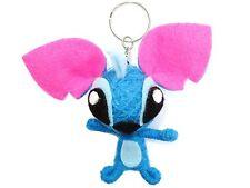Cartoon Blue Alien Dog Voodoo String Doll Charm Key Ring Keyring Bag Toy Charm