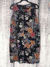 Size 18 Next 55% Linen Floral Patterned Shift Dress