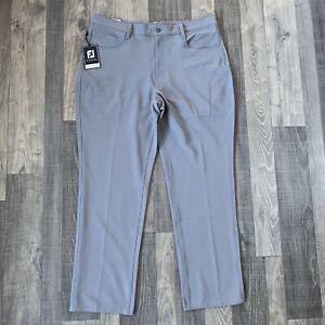NWT Footjoy FJ Athletic Fit 5 Pocket Performance Golf Pants Mens 36x30 Grey
