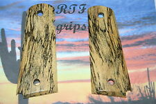 "1911 Full size 4""5"" bbl. Spalted Tamarind Wood RTF grips made in the USA"