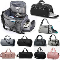 Men Women Luggage Travel Bag Shoulder Gym Sports Duffel Handbag Shoes Area Tote