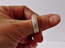 925 STERLING SILVER BAND RING size K1/2, U, W, W1/2, Y   (everyday wear)