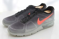 NIKE AIRMAX Sequent Gray with Bright Orange Swoosh Worn 1 Time 13 AMAZING
