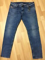 Men Diesel SLEENKER LYOCELL Stretch Denim 084UU BLUE SLIM W40 L32 H7 RRP£150