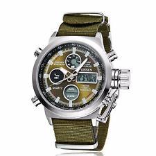 Reloj de Pulsera Reloj para Hombre Deportivos Militares OHSEN Analógico Digital Cuarzo Lona De Nylon