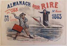 Almanach pour Rire Illustré par Cham 14ème Année 1863 Lithographie