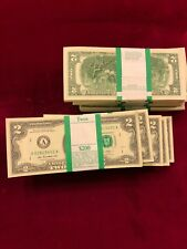 $2. Bills NEW-Direct from BEP (Bureau of Engraving and Printing) Packages of 100