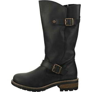 Oak and Hyde Crest Womens Black Biker Style Leather Boots Size UK 7