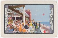 Playing Cards Single Card Old LNER Railway Train Advertising Art CLACTON ON SEA