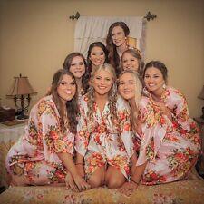 825912a0b1057 Dressing Gown - FLORAL SATIN Bridal Robes - Silk Floral Robe Bride,  Bridesmaid