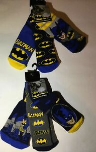 3 Pairs Boys Slipper Socks with Batman detail