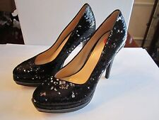 "COLE HAAN NIKE AIR BLACK SEQUIN SPARKLING STILETTO SHOES - SIZE 10 - 5"" HEEL"