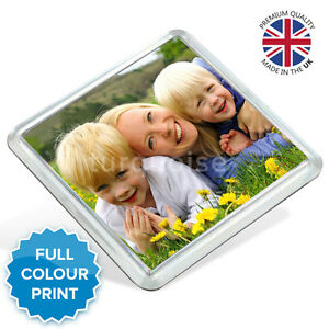 Personalised Acrylic Photo Coasters Square Drink Mats Gift Set | 80mm