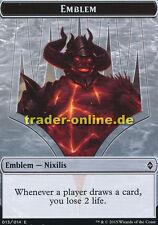 Token - Emblem Nixilis (Spielstein - Emblem Nixilis) Battle for Zendikar Magic