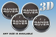 RANGE ROVER wheel center cap decals emblems stickers 4 pcs ~ ANY SIZE ~ s/sr/b