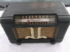 1940's Farnsworth ET-064 AM Radio Bakelite Case Cloth Grille VAC TUBE.. WORKS