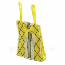 Miniatura Para Casa De Muñecas Tela Amarilla Bolsa De La Compra