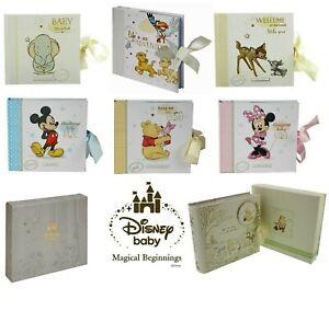 Disney Baby Photo Album Gift Boxed - Mickey Minnie Winnie Bambi Dumbo or Simba