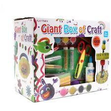 Hobbycraft Childrens Giant Box of Craft 1000 Pieces Glue Paper Foam Shape Pompom