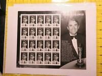 GREGORY PECK LEGENDS HOLLYWOOD FOREVER STAMP SHEET 1ST CLASS POSTAGE 20 STAMPS B