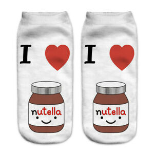 Novelty Socks Casual Ankle Trainer Size 3-8 Donut Food Gift Present