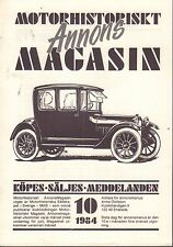 Motorhistoriskt Magasin Annons Swedish Car Magazine 10 1984 Jaguar 032717nonDBE