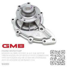 GMB WATER PUMP V6 SUPERCHARGED 3.8L MOTOR HOLDEN V2 MONARO/VS-VT-VX-VY COMMODORE