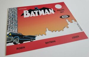 Batman 3 Figure Set Card Only 1966 Ideal Type Read