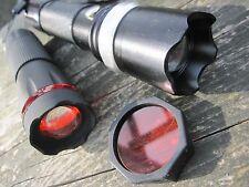 2 x CREE ZOOM Led Focus Taktische Taschenlampe + Farbaufsatz Rotlicht