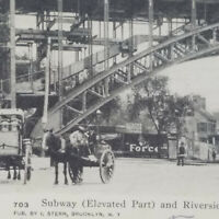 c1905 Postcard Subway/Riverside Viaduct Manhattan St at 125th St. New York Borax