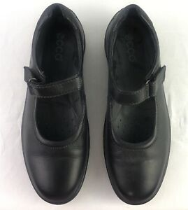 Black ECCO Mary Jane Shoes ECCO Light Support Size 38  321