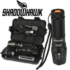 6000lm Genuine Shadowhawk X800 Tactical Flashlight LED Military ZOOM Torch G700