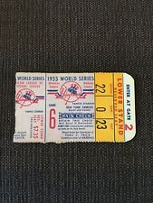 1955 Brooklyn Dodgers Championship Yankees Snider Mantle World Series Ticket G6