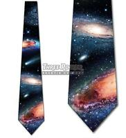 Galaxies and Comets Necktie Tie Men's Science Space Astronomy Necktie NWT