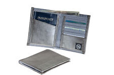 VIATOR GEAR RFID ARMOR Passport Wallet - Made in the USA - Milano Silver