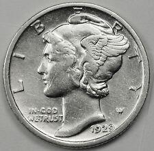 1929-d Mercury Head Dime.  High Grade.  88609   (INV.A)