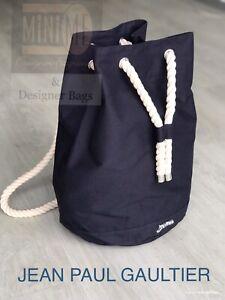 🆕💙💜💙JEAN PAUL GAULTIER LE MALE CANVAS BAG BACKPACK  RUCKSACK BAG New💙
